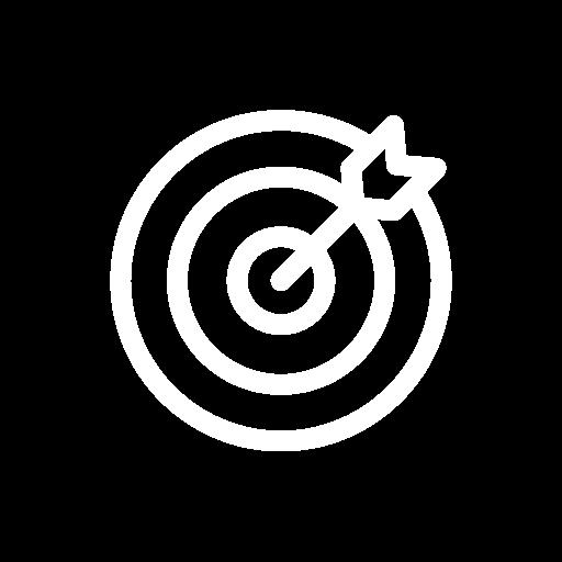 retargeting white icon